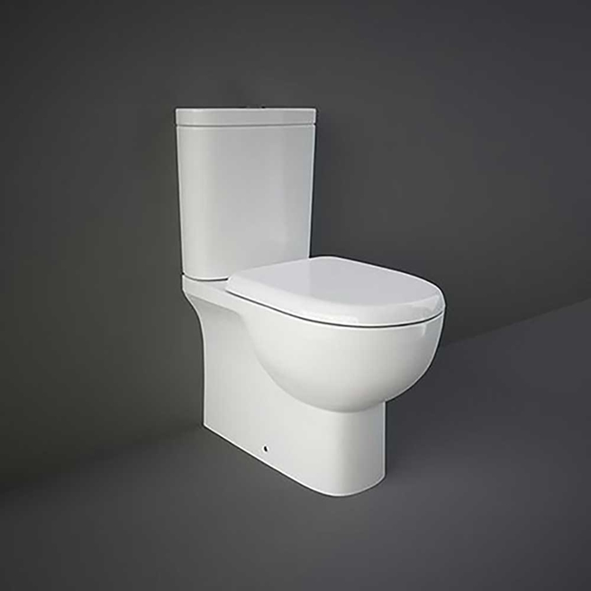 RAK Tonique Fully Back to Wall Toilet & Soft Close Seat - 625mm Projection