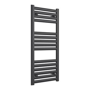 Reina Anita Anthracite Aluminium Heated Ladder Towel Radiator