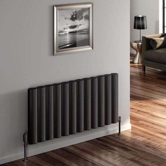 Reina Belva Aluminium Double Panel Horizontal Designer Radiator - Anthracite