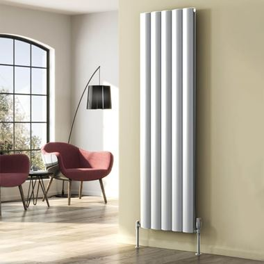 Reina Belva Aluminium Single Panel Vertical Designer Radiator - White