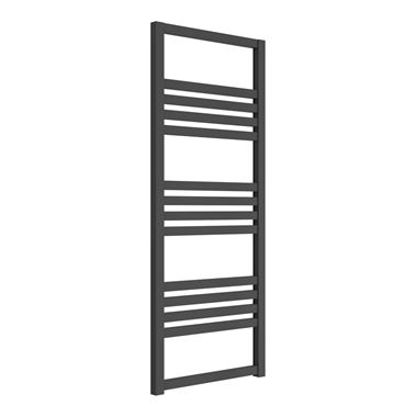 Reina Bolca Anthracite Aluminium Heated Ladder Towel Radiator