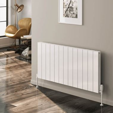 Reina Casina Aluminium Single Panel Horizontal Designer Radiator - White