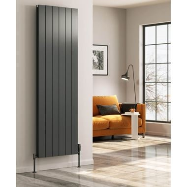 Reina Casina Aluminium Double Panel Vertical Designer Radiator - Anthracite
