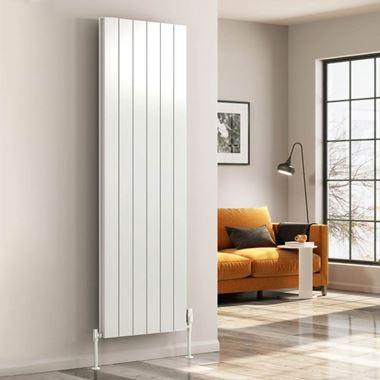 Reina Casina Aluminium Double Panel Vertical Designer Radiator - White