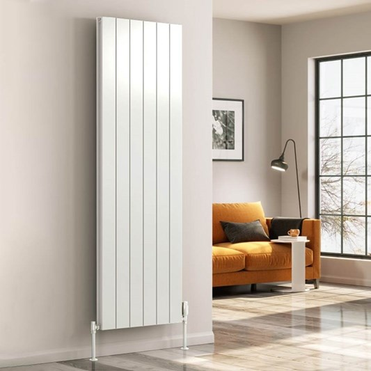 Reina Casina Aluminium Single Panel Vertical Designer Radiator - White