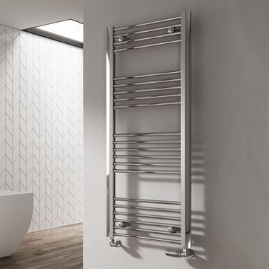 Reina Divale Polished Aluminium Heated Ladder Towel Radiator