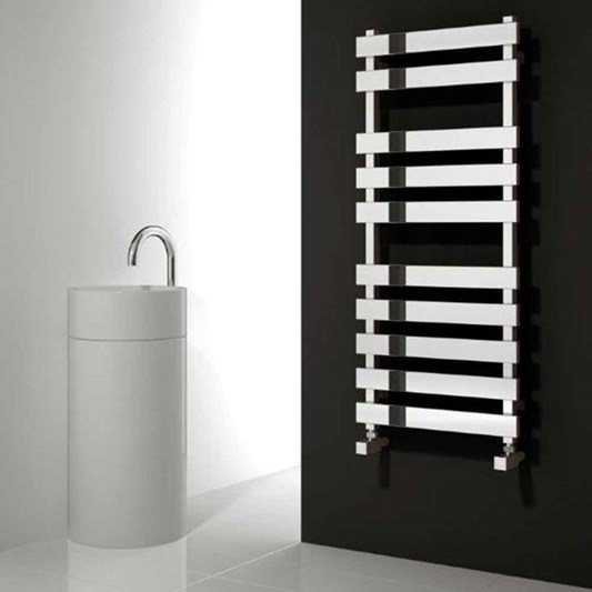 Reina Kreon Polished Stainless Steel Bathroom Heated Towel Rail Radiator