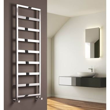 Reina Rezzo Designer Dual Fuel Heated Towel Warmer - Chrome