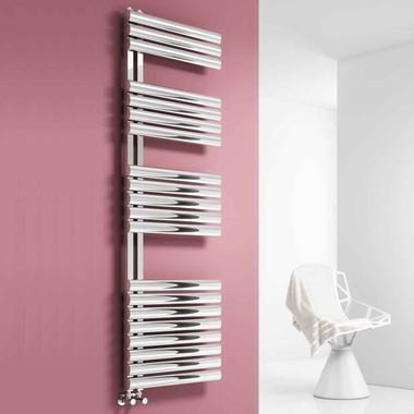 Reina Scalo Polished Stainless Steel Bathroom Heated Towel Rail Radiator