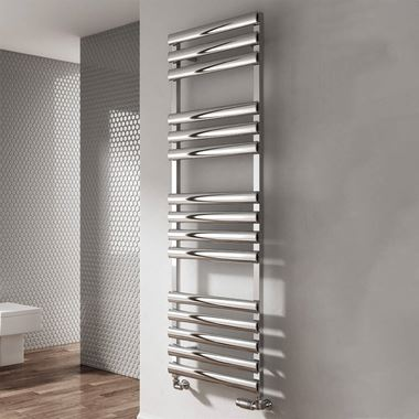 Reina Veroli Polished Aluminium Heated Ladder Towel Radiator