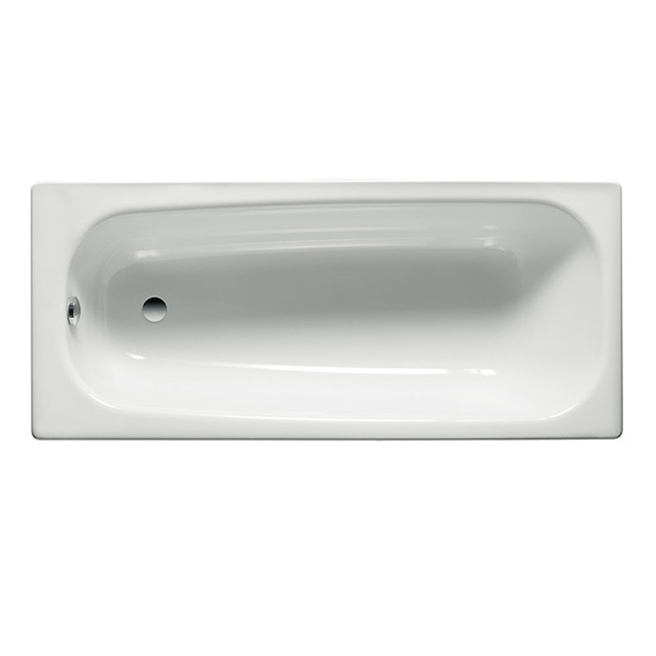Roca Contesa Anti-Slip Steel Bath with 2 Tap Holes - 1700 x 700mm