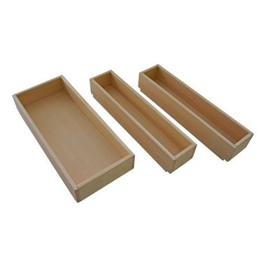 Roper Rhodes Beech Vanity Unit Storage Boxes - Set of 3