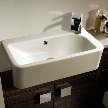 Roper Rhodes Geo Slim Depth Semi-Recessed Basin