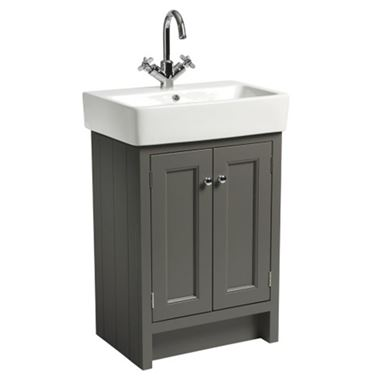 Roper Rhodes Hampton 550mm Vanity Unit & Basin - Pewter