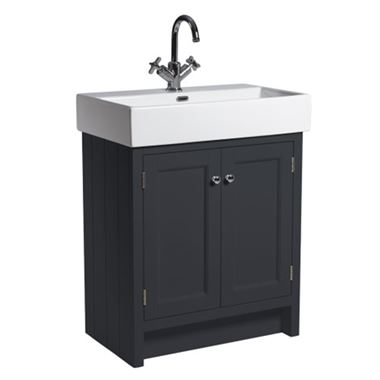 Roper Rhodes Hampton 700mm Vanity Unit & Basin - Slate Grey