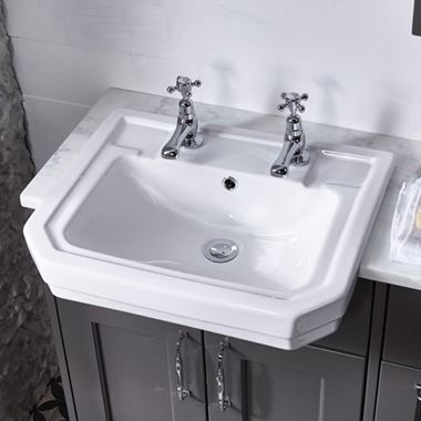 Roper Rhodes Harrow Semi-Countertop Basin - 1 or 2 Tap Holes