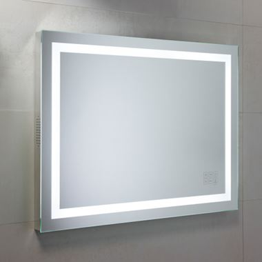 Roper Rhodes LED Illuminated Beat Mirror, with Bluetooth Speaker System - 800 x 600mm