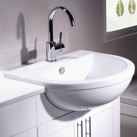 Roper Rhodes Minerva 560mm Semi-Recessed Basin