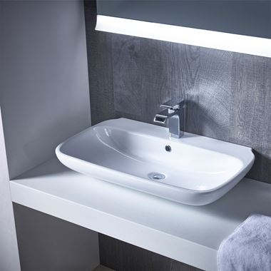 Roper Rhodes Note Wall Hung/Countertop Basin - 450mm, 550mm, 650mm & 750mm
