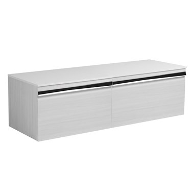 Roper Rhodes Pursuit 1200mm Wall Mounted Unit & Worktop - Alpine Elm