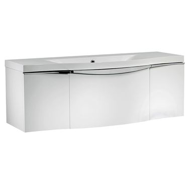 Roper Rhodes Serif 1200mm Wall Mounted Vanity Unit - Gloss White