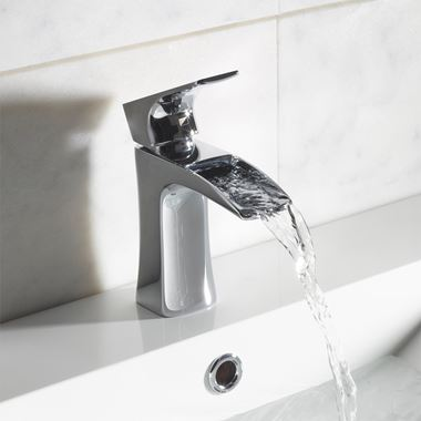 Roper Rhodes Sign Waterfall Basin Mixer with Click Waste