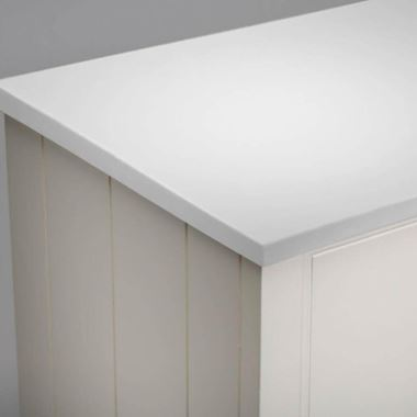 Roper Rhodes Strata 680mm Solid Surface Worktop - Arctic White
