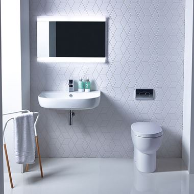 Roper Rhodes Zest Back to Wall Toilet & Soft Close Seat - 450mm Projection
