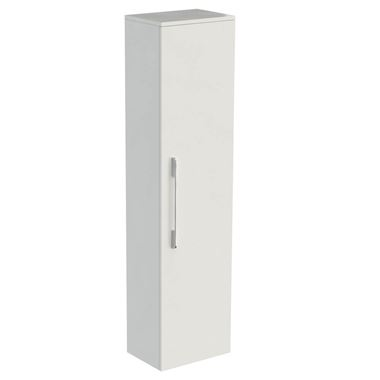 Saneux Austen 1400mm Wall Mounted Tall Storage Unit - White Gloss