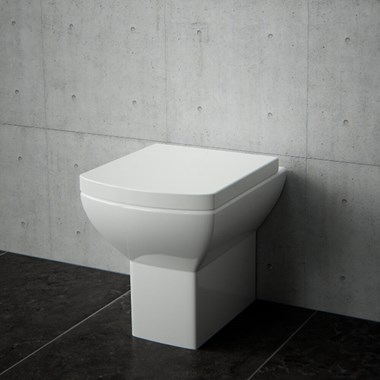 Saneux I-Line Short Projection Rimless Toilet & Soft Close Seat - 480mm Projection
