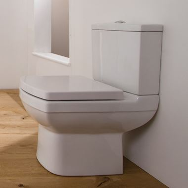 Saneux I-Line II Rimless Short Projection Toilet & Soft Close Seat - 600mm Projection