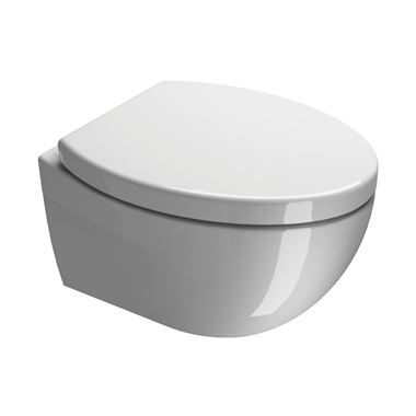 Saneux Poppy Slim Wall Hung Toilet & Seat - 510mm Projection