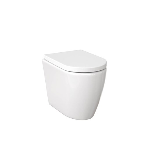Saneux Uni Back to Wall Rimless Toilet & Soft Close Seat - 522mm Projection