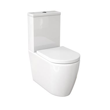 Saneux Uni Rimless Closed Back Toilet & Soft Close Seat - 660mm Projection
