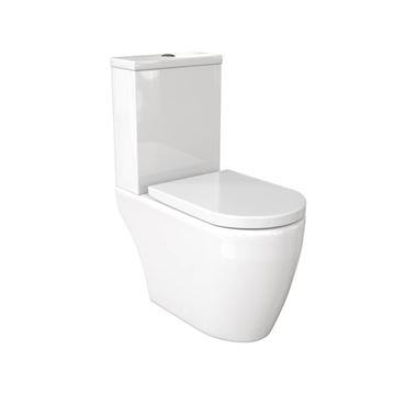 Saneux Uni Rimless Open Back Toilet & Soft Close Seat - 650mm Projection