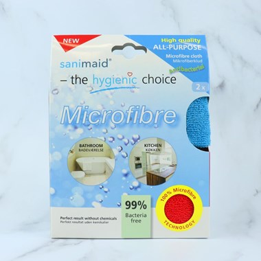 Sanimaid Antibacterial Microfibre Cloth - Twin Pack