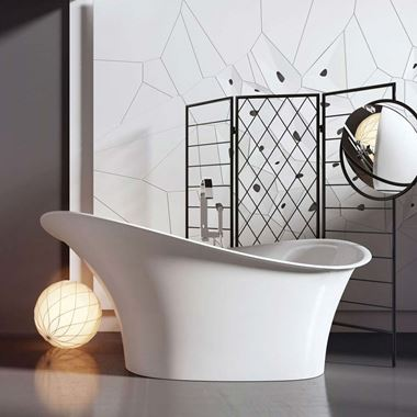 Sasha Freestanding White Acrylic Bath - 1750 X 825mm