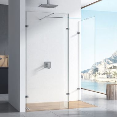 Harbour i10 10mm 2m Tall Easy Clean No-Profile Wetroom - 2 Panel Pack