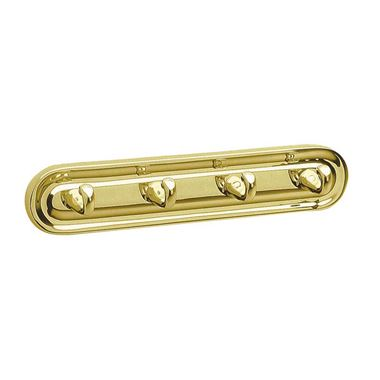 Smedbo Quadruple Villa Robe Hook - Brass