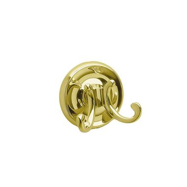 Smedbo Villa Double Robe Hook - Brass