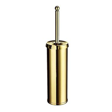 Smedbo Villa Freestanding Toilet Brush Holder - Brass