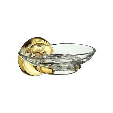 Smedbo Villa Glass Soap Dish - Brass