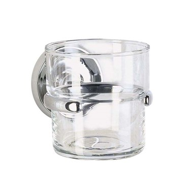 Smedbo Villa Glass Tumbler and Holder