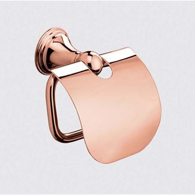 Sonia Genoa Rose Gold Toilet Roll Holder With Flap