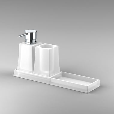 Sonia S7 Soap Dish Tumbler & Dispenser Set