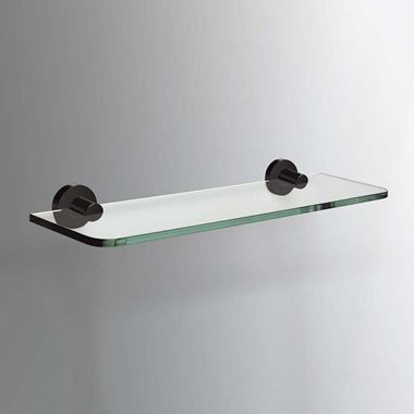 Sonia Tecno Project Black Glass Shelf - 500mm