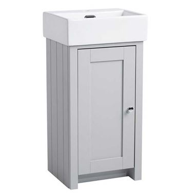 Tavistock Lansdown 400mm Cloakroom Vanity Unit & Basin - Pebble Grey