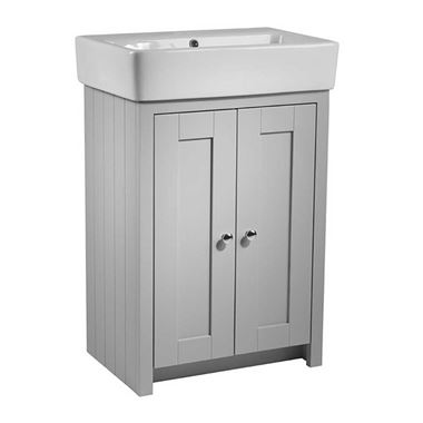 Tavistock Lansdown 550mm Floorstanding Vanity Unit & Basin - Pebble Grey
