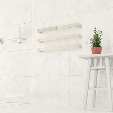 Thermosphere Thermorail Square Single Bar Heated Towel Rail