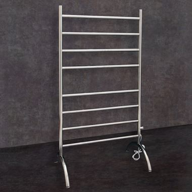 Thermosphere Thermorail Floorstanding Round Dry Electric Towel Rail - 1080 x 600mm